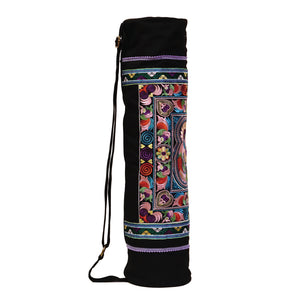 yoga bags pilates mat carrier Vinyasa Hatha shape sports omyoga yogalife fitness hot yoga under armour  vintage beach bag exercise fit colorful showpo handmade handcraft embroidered embroidery fair trade bag handbags boho bohemian shoulder bag tribal summer spring healthy activewear lululemon athleisure yoga mat body flow gym mat holder duffle bag manduka yoga outlet zappo chaka