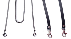 leather strap gunmetal snack chain