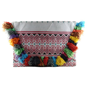tassel clutch clutches pompom colorful boohoo nasty gal rebecca minkoff ASOS rainbow marie claire vouge instyle seventeen allure cosmopolitan revolve showpo handmade handcrafted embroidered fairtrade bag handbags boho bohemian vintage fashionable chic glamorous glam fun revolve houseofcb gaia show prettylittlething missguided artisans classic iPad cases topshop