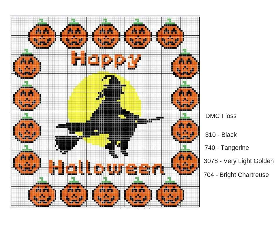 Free Halloween Cross Stitch Pattern