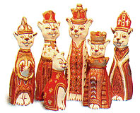Supercast Chess Molds Royal Cats