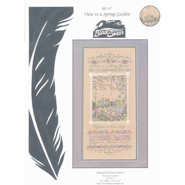 Black Swan Designs View To a Spring Garden Cross Stitch Pattern