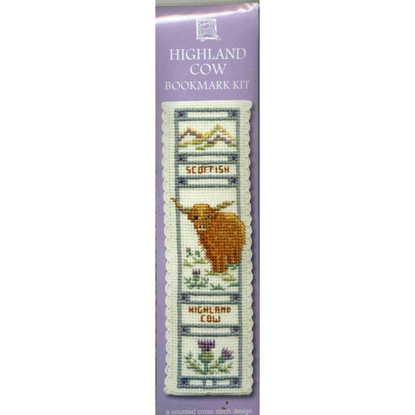 Textile Heritage Highland Cow Bookmark Cross Stitch Kit