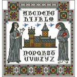 Arelate Studio Stained Glass Alphabet Sampler Cross Stitch Pattern