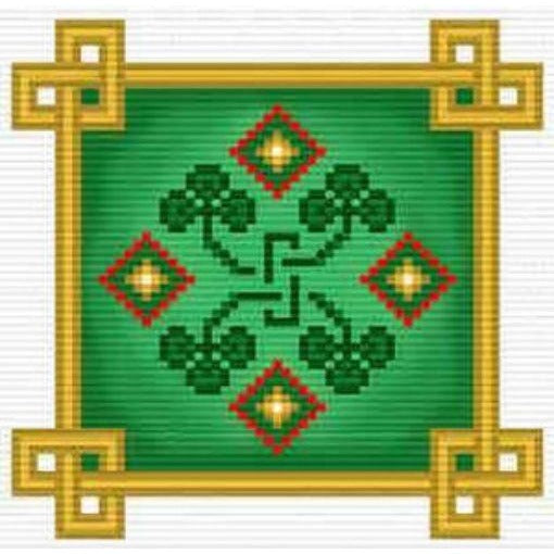 Irish Shamrocks Cross Stitch Pattern