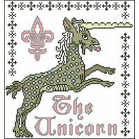 Arelate Studio Dappled Unicorn Cross Stitch Pattern
