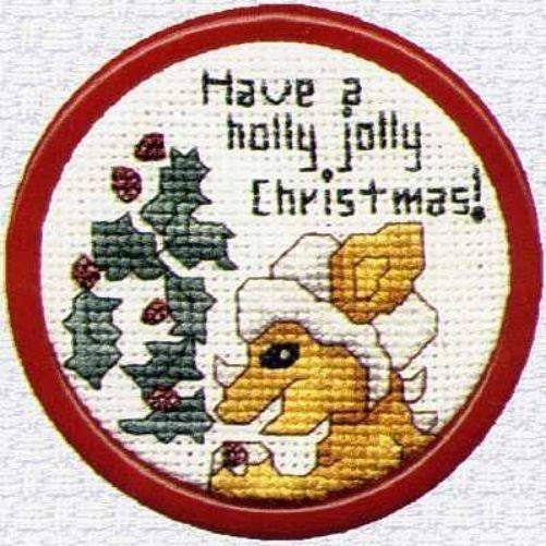 Holly Jolly Christmas Dragon Cross Stitch Pattern Limited Edition