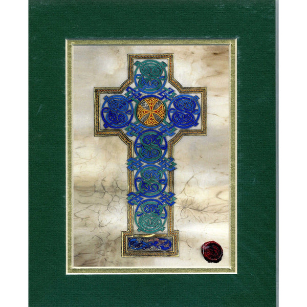 Celtic Card Company Matted Print Celtic Cross