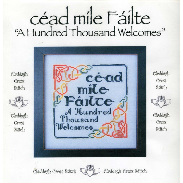 Claddagh Cross Stitch Cead Mile Failte Hundred Thousand Welcomes Pattern