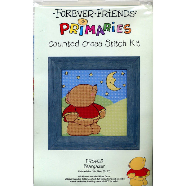 Binca Beginner Stamped Cross-stitch Kit Forever Friends Stargazer Anchor