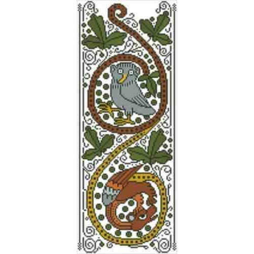 Arelate Studio The Owl and the Wyvern Cross Stitch Pattern