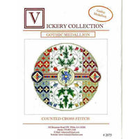 Vickery Collection Gothic Medallion-  Cross Stitch Pattern