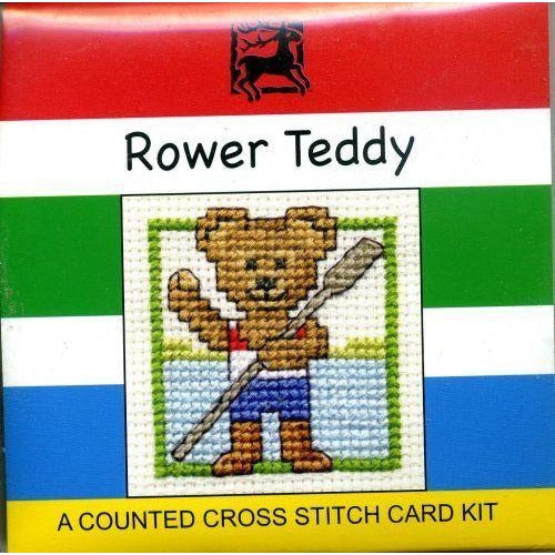 Textile Heritage Rower Teddy Miniature Cross Stitch Kit