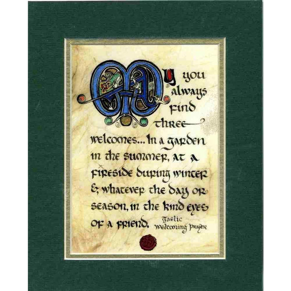 Matted Print Gaelic Welcoming Prayer
