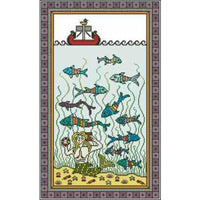 Arelate Studio Medieval Mermaid Cross Stitch Pattern
