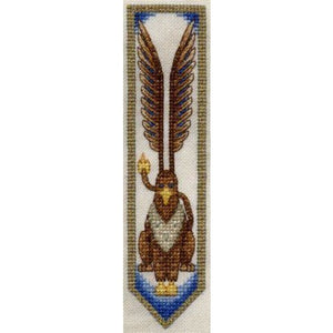Dracolair Creations Griffon Bookmark Cross Stitch Pattern