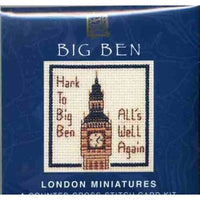Textile Heritage Big Ben London Miniature Card Cross Stitch Kit