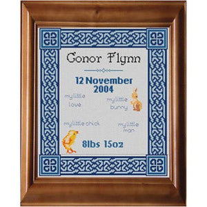 Celtic Obsessions Knotwork Baby Sampler Boy Cross Stitch Pattern