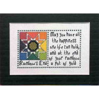 Claddagh Cross Stitch Rainbow's End Irish Quilts and Quotes Pattern