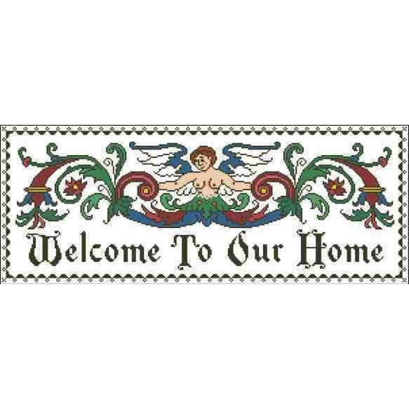 Arelate Studio Warm Welcome to our Home Cross Stitch Pattern