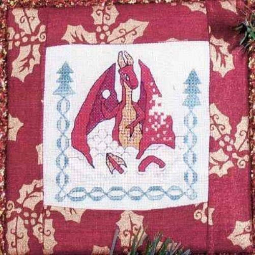 Snowfight Snowball Red Dragon Christmas Cross Stitch Pattern Limited Edition