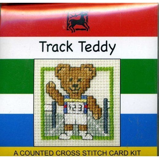 Textile Heritage Track Teddy Miniature Cross Stitch Kit