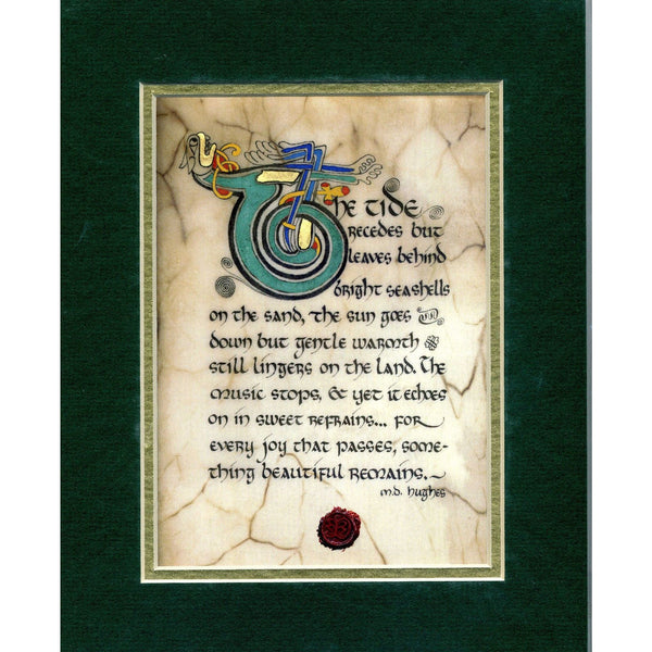 Celtic Card Company Matted Print The Tide Recedes Something Beautiful Remains