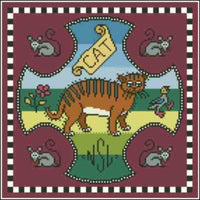 Arelate Studio Inspired by Mary Queen of Scots Cat Cross Stitch Pattern