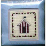 Textile Heritage Beach Huts Red Stripe Coaster