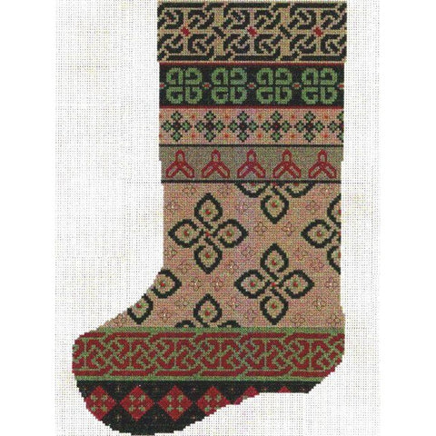 Celtic Obsessions Celtic Christmas Stocking Cross Stitch Pattern