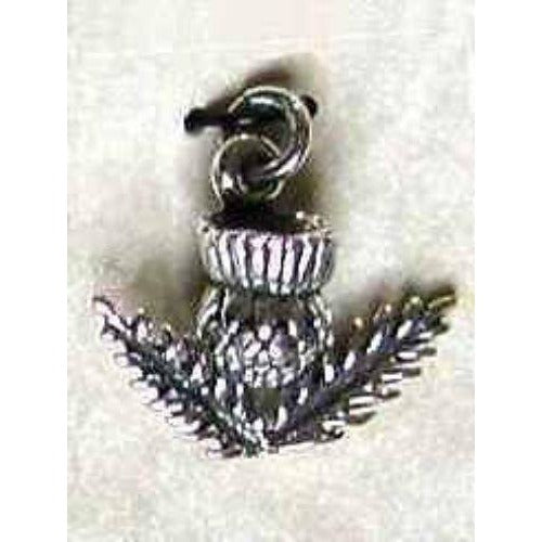 Celtic Treasures Scottish Thistle Sterling Silver Charm