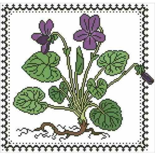 Sweet Violets Cross Stitch Pattern