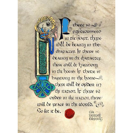 Celtic Card Company Matted Print Olde Scottish Blessing
