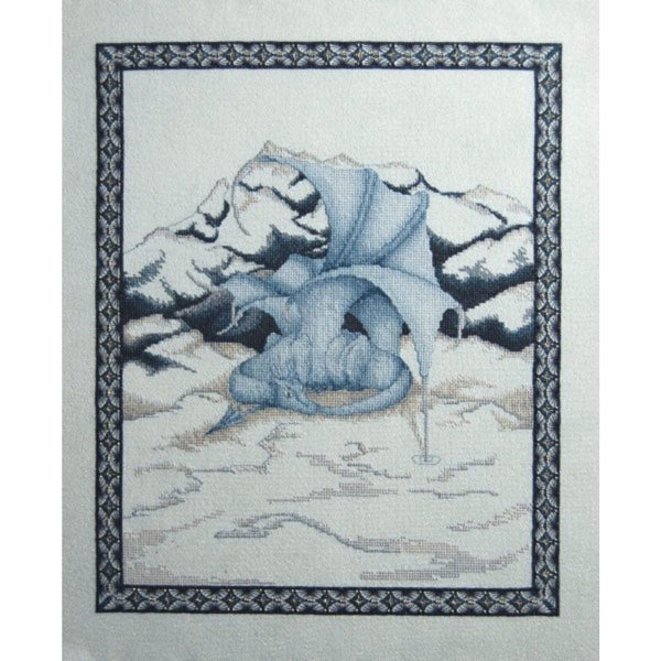 Dracolair Creations Arrival of Winter Dragon Cross Stitch Pattern