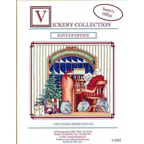 Vickery Collection Santa's Office Christmas Cross Stitch Pattern