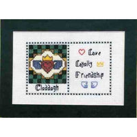 Claddagh Cross Stitch - Claddagh Irish Quilts and Quotes Pattern