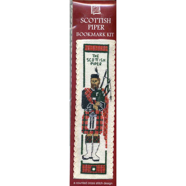 Textile Heritage Scottish Piper Bookmark Cross Stitch Kit