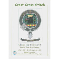 Clans of Scotland Scottish Clan Crest Cross Stitch Pattern