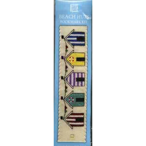 Textile Heritage Beach Huts Bookmark Cross stitch Kit