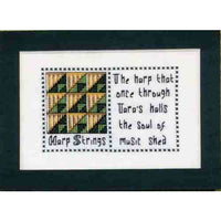Claddagh Cross Stitch - Harp Strings Irish Quilts and Quotes Pattern