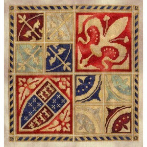 Dracolair Creations Medieval Tiles Cross Stitch Pattern