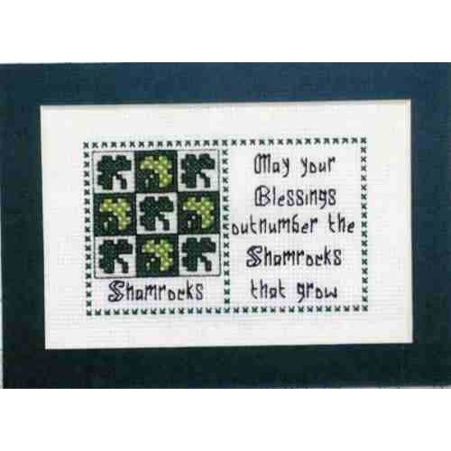 Claddagh Cross Stitch Shamrocks Irish Quilts and Quotes Pattern