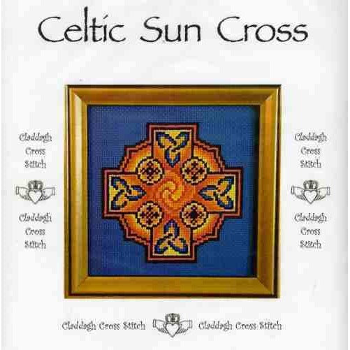 Claddagh Cross Stitch Celtic Sun Cross Pattern