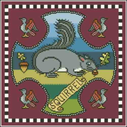 Arelate Studio Inspired by Mary Queen of Scots Squirrel Cross Stitch Pattern