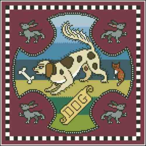 Arelate Studio Inspired by Mary Queen of Scots Dog Cross Stitch Pattern