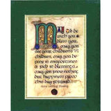 Celtic Card Company Matted Print Celtic Wedding Blessing