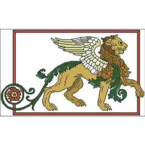 Arelate Studio Lion Triumphant Cross Stitch Pattern