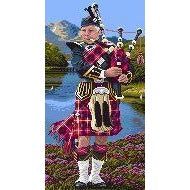 Landmark Tapestries & Charts - Scottish Piper - Cross Stitch Pattern