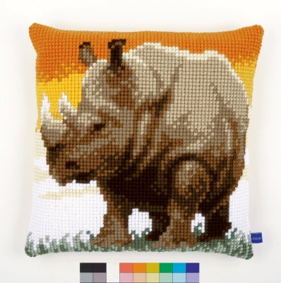Vervaco African Rhino Quickpoint Cross Stitch Kit