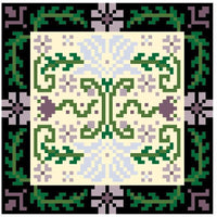Landmark Tapestries & Charts Arts & Crafts Lily Pincushion Cross Stitch Pattern